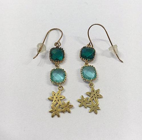 Goldfilled earrings , Dangle earrings , Geometric earrings ,flowers  ea