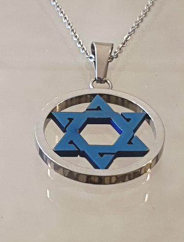 Star of David , Men necklace gift ,Jewish jewelry, Judaica Jewelry