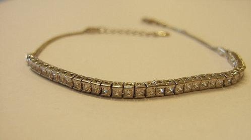 Tennis bracelet, A single line,  Zircons bracelet , square tennis bracelet