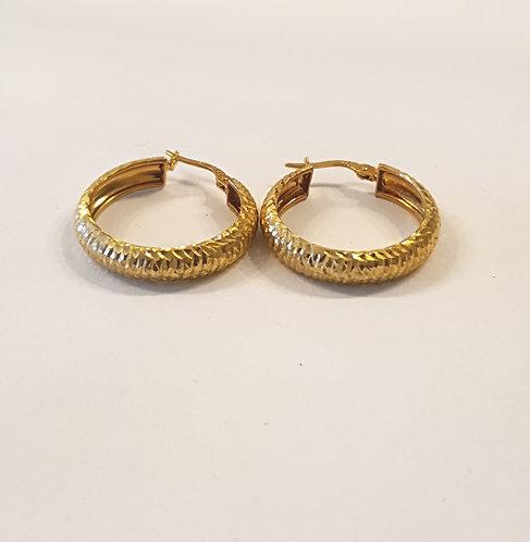 Gold  earrings , Gold 14k earrings ,Hoop earrings