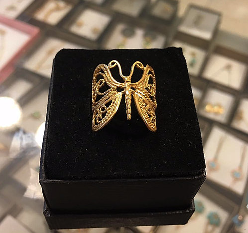 Gold-filled Ring , Butterfly ring , Butterfly jewelry