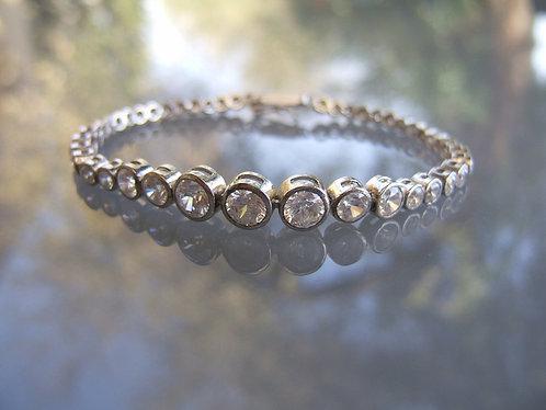 Tennis bracelet , Zircons bracelet , Round Tennis Bracelet