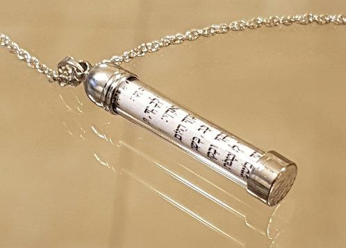 Mezuzah necklace , Mezuzah  jewelry, Mezuzah pendant , Bar Mitzvah gift