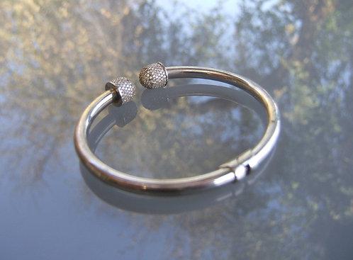 Sterling silver bracelet ,Thick bangle bracelet ,  925 silver bracelet