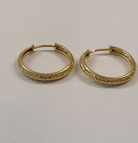 Gold  earrings , Gold 14k earrings ,Hoop earrings