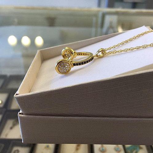 Gold-filled necklace , Earphone  jewelry, Earphone pendant