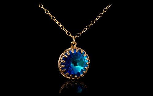 Blue Capri Crystal,Swarovski crystal, Blue pendant