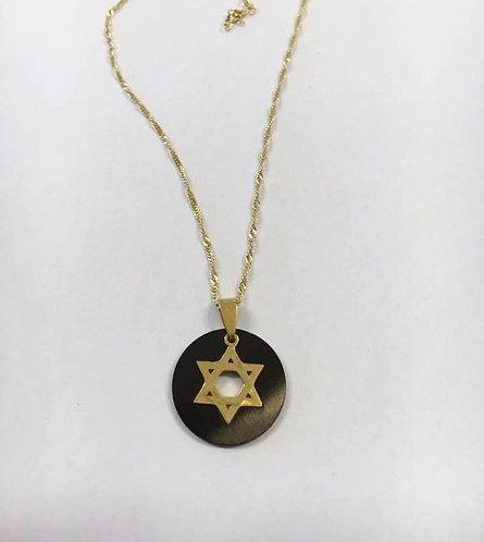 Star of David , Bar mitzvah gift ,Jewish jewelry, Judaica Jewelry,Black pendant