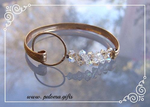 Goldfilled bracelet , An open Moroccan bracelet ,Special design bracelet