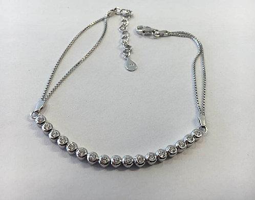 Circles Tennis bracelet, Silver 925 tennis bracelet,Circles bracelet
