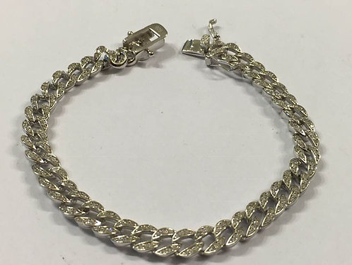 Loops  Bracelet , Bracelet Zircons, Silver bracelet , Silver jewelry