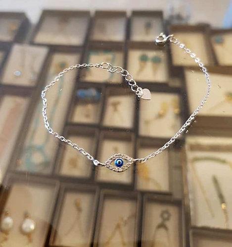 Evil Eye 925 Silver Bracelet ,A delicate silver  bracelet ,Silver  jewe