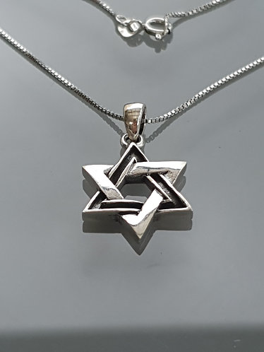 Star of David pendant, 925 silver pendant, Kabbalah pendant