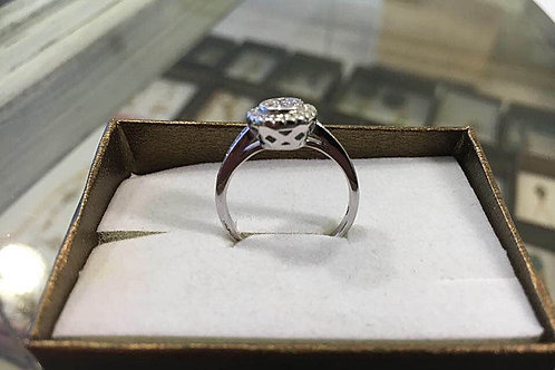 Silver ring,Engagement silver ring, Crystal ring, Silver 925 sterling ri