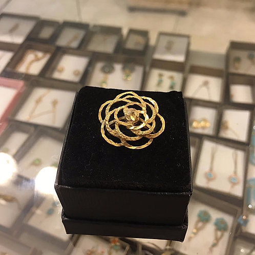 Gold-filled Ring , Rose ring , Rose jewelry