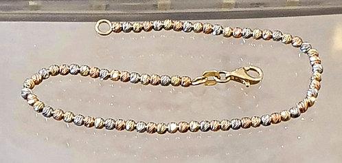 Gold 14k bracelet ,Gold ball bead bracelet ,Gold jewelry