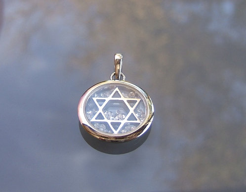 Star of David , 14K white gold pendant , Star of David pendant ,Bar mitzvah gi