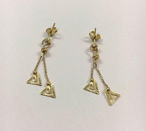 Gold 14k earrings ,Dangle earrings, Gold jewelry