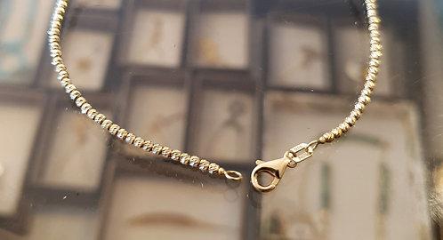14K gold bracelet ,Diamond cut ball bracelet,Gold jewelry,Balls jewelry