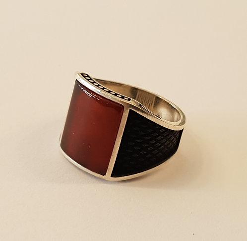Silver ring, Carnelian ring, Gemstone ring,Ring for men