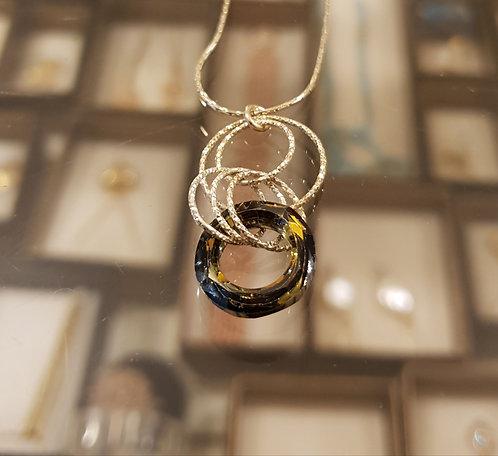 Swarovski hoop pendant, 925 silver hoop pendant
