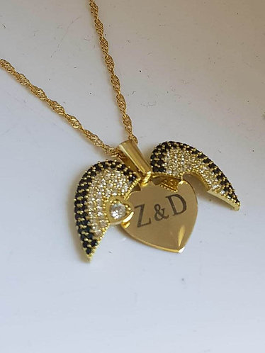 Heart pendant opens, Heart jewelry, gold filled  jewelry