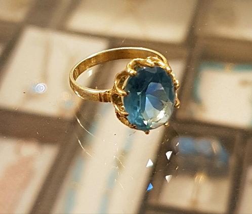 Blue Topaz gamstone ring, Blue Topaz ring, Goldfilled ring