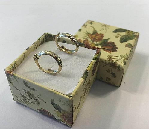 Gold  earrings , Gold 14k ,Hoop earrings
