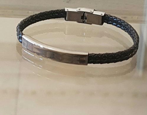 Smooth men's bracelet ,Men's bracelet ,Men's jewelry,Black cable bangle