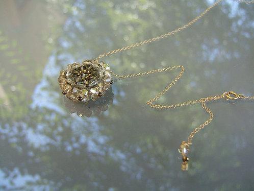 Hand-woven Swarovski necklace