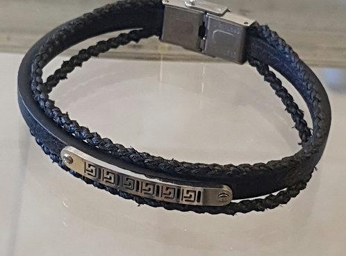 Stainless Steel men's bracelet ,Men's bracelet ,Men's jewelry,Leather bracelet