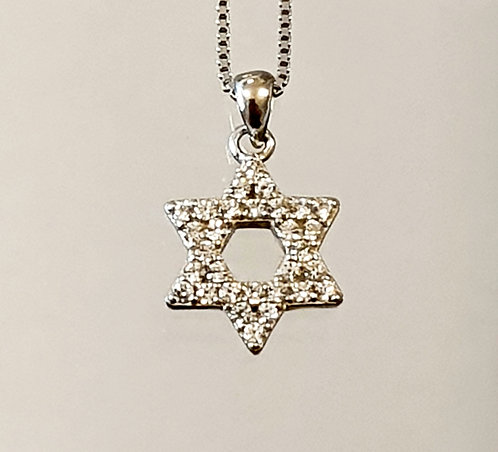 Silver pendant , Star of david pendant, star of david jewelry