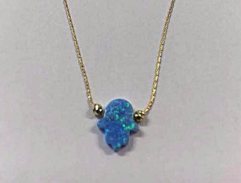 Hamsa pendant , Gold-filled Opal Hamsa pendant , Opal jewelry