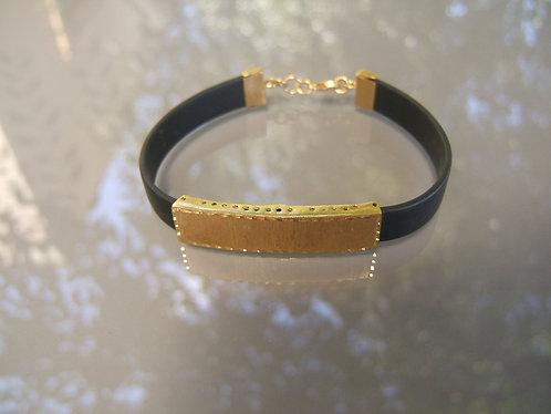 Smooth gold-filled plate bracelet