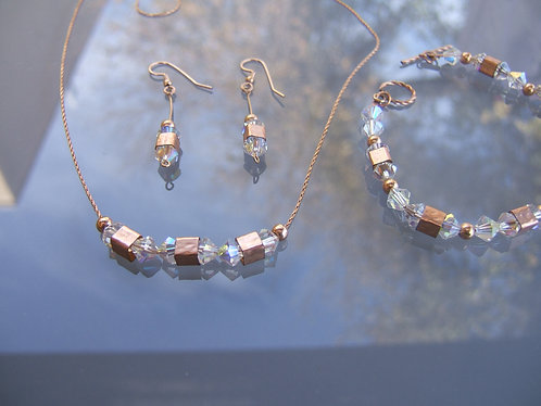 Swarovski set , Goldfield  set , Goldfield  jewelry, Crystal set