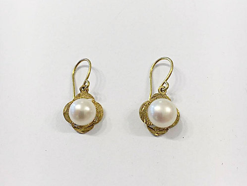 Pearl earrings , Pearl jewelry, Goldfilled earrings