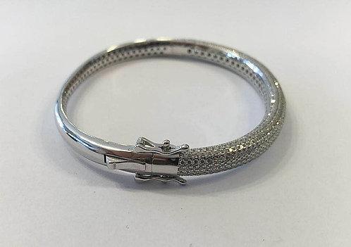 Sterling silver bracelet ,Thick bangle bracelet ,Elegant bracelet