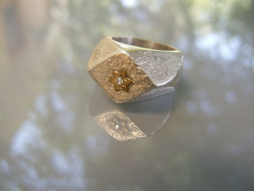 Silver Geometric ring,Lozenge ring ,925 sterling ring, Handmade Lozenge silver r
