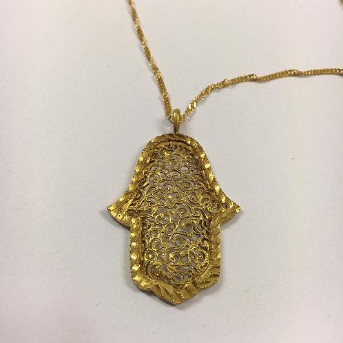 Hamsa pendant ,Chai pendant,Jewish Jewelry, Hamsa necklace