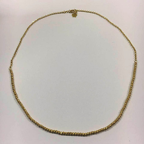 14K gold necklace ,Balls necklace, Gold jewelry,Balls jewelry