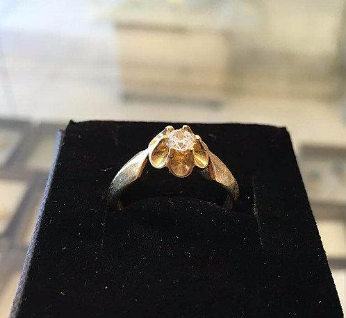 Gold-filled Ring ,Zircon  ring , Wedding ring ,Flower ring