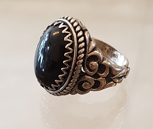 Onyx gemstone ​​ring,Gemstone ring,925 silver ring ,Onyx ring