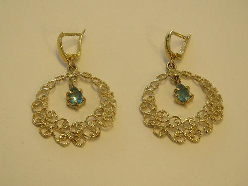 Elegant earrings with Blue Topaz