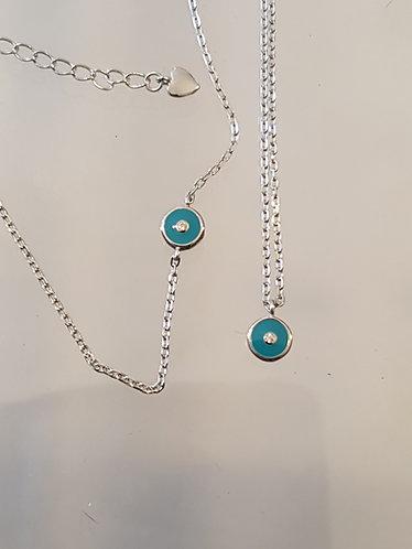 Evil eye silver set ,Silver set,evil eye set, blue eye jewelry