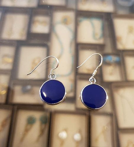 Lapis stone earrings , Silver 925 earrings,Natural lapis, Drop earrings