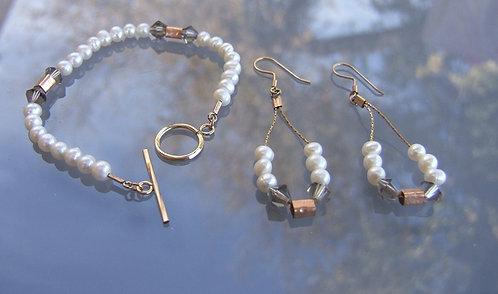 Pearls set , Goldfield  set , Goldfield  jewelry, Pearls jewelry