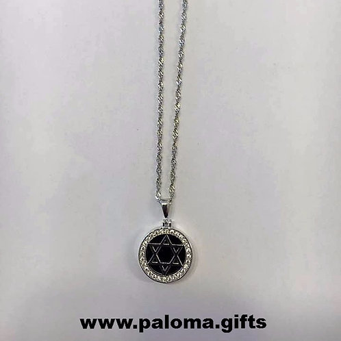Star of David, Jewish jewelry ,Silver pendan,Bar mitzvah gift