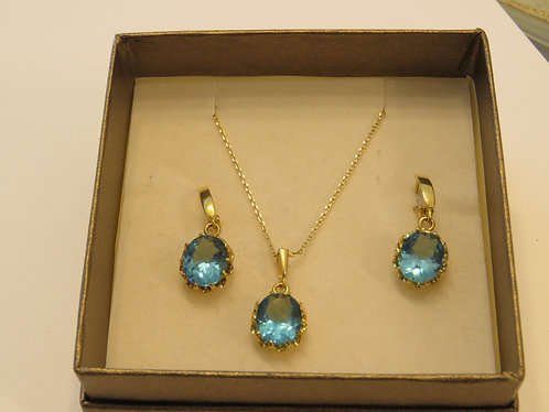 Blue topaz gamstone set