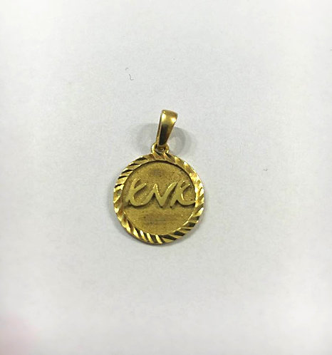 Mother  pendant ,Gold pendant , Mom's gift, Round pendant