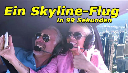 Hubschrauberflug zur Frankfurter Skyline